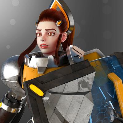 Brigitte (Overwatch Fan Art)