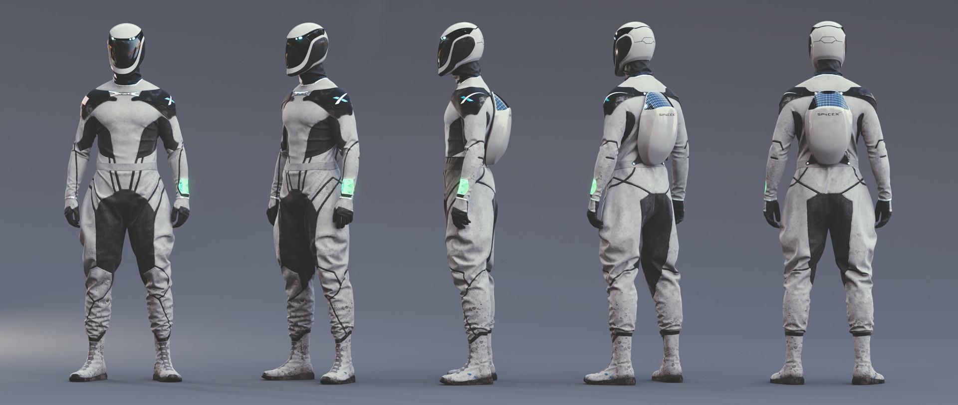 ArtStation - SpaceX Space Suit Concept, Lucas Valle