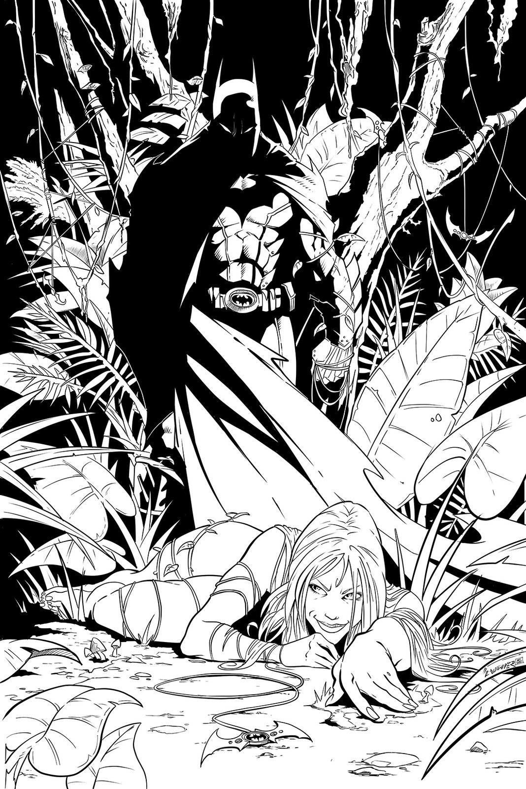 Batman and Poison Ivy
