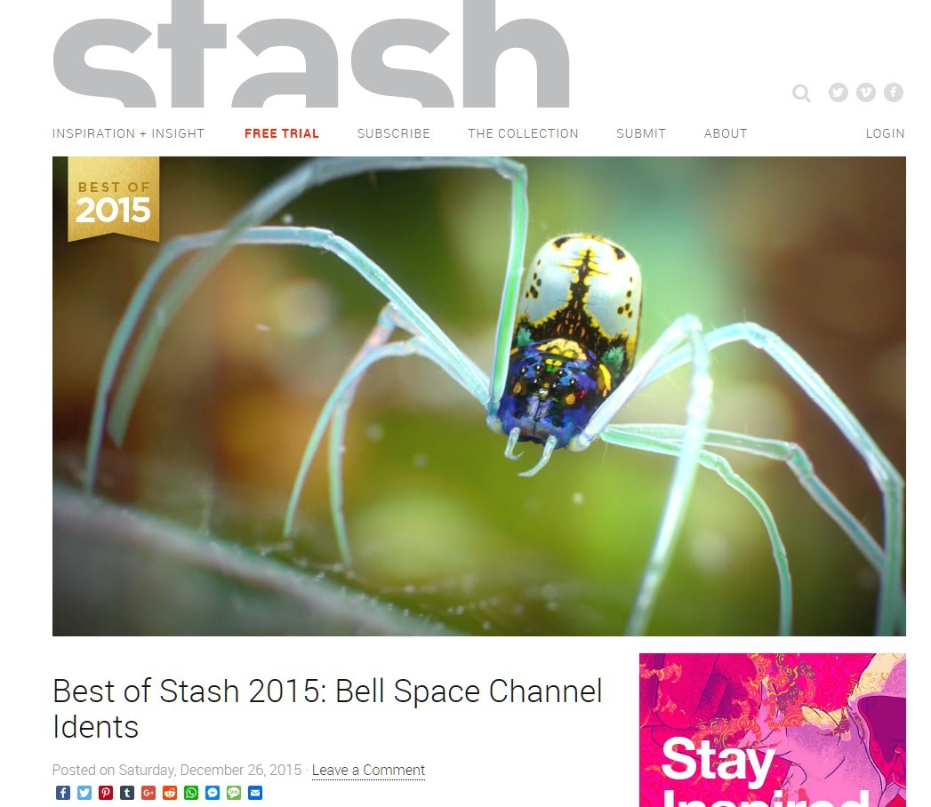 That ID was listed as BEST OF STASH 2015 here -> http://www.stashmedia.tv/stash-2015-bell-space-channel-idents/