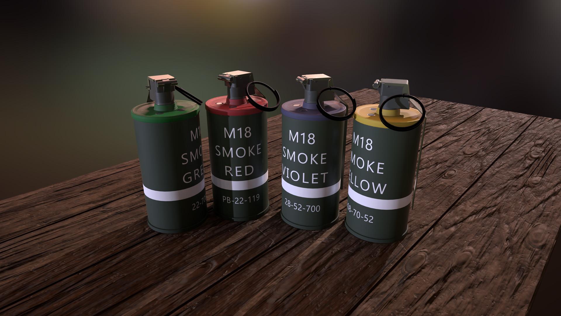 ArtStation - M18 Smoke Grenades, Nick Moore