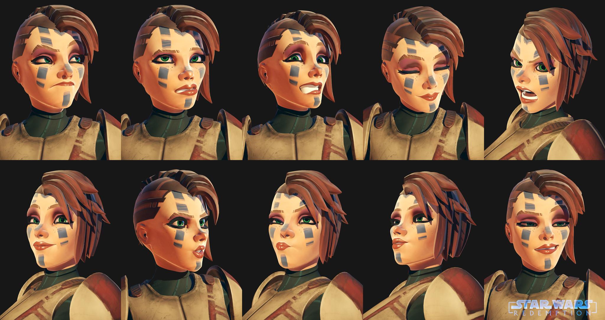 Mevenn - Facial Expressions, rig & anim done on Akeytsu, rendered on Marmoset Toolbag 3