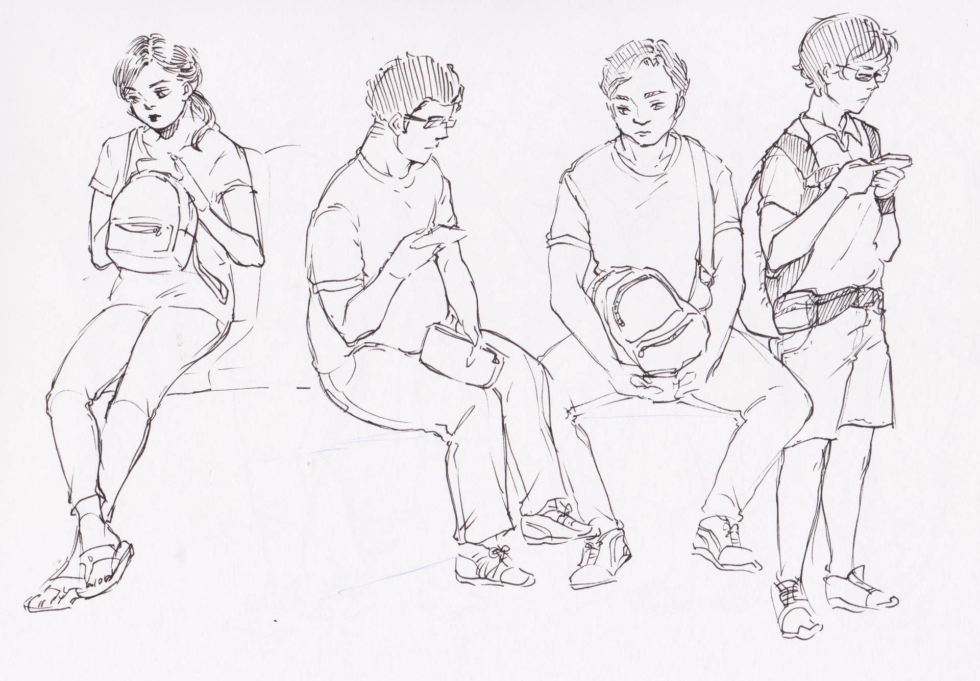 Avery Reyes - gesture drawings