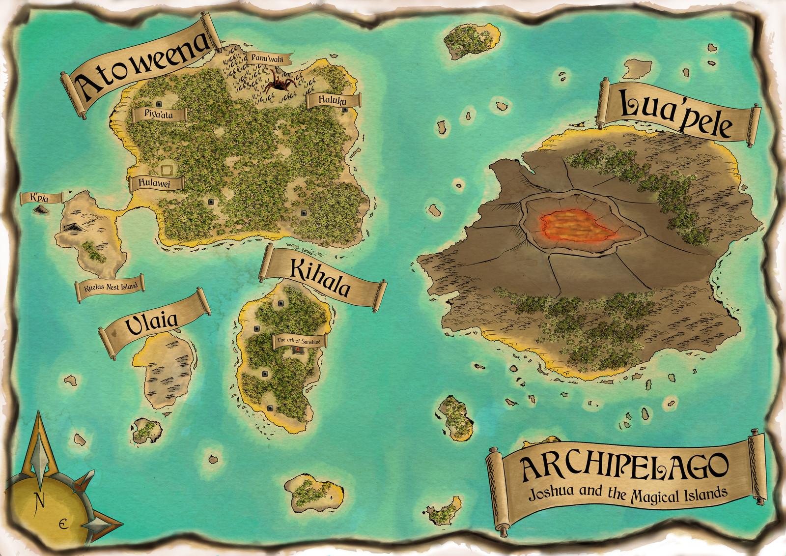 Archipelago commissioned map