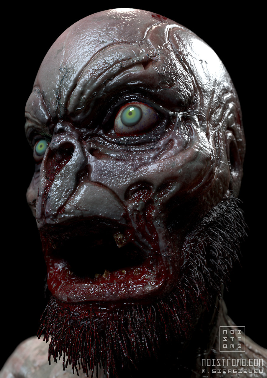 Marius siergiejew zombie mutant by noistromo test shot 001 x1280