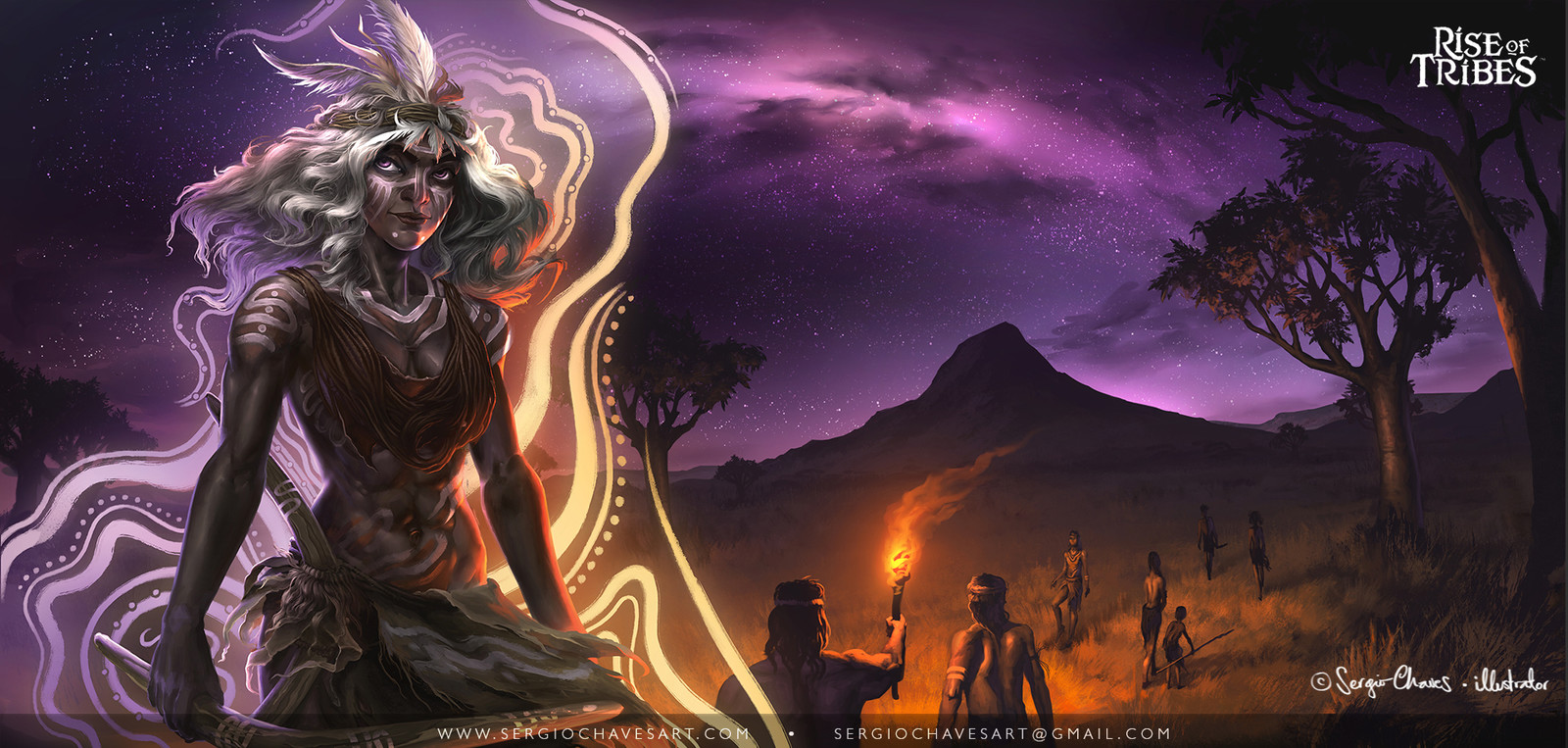 Kia-Kia Tribe - The Final art includes character and background. Gameplay instructions will be placed over the less busy part of the background.