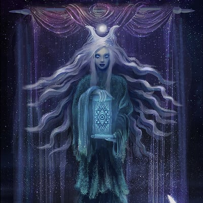 Cecilie noctique the high priestess tarot card
