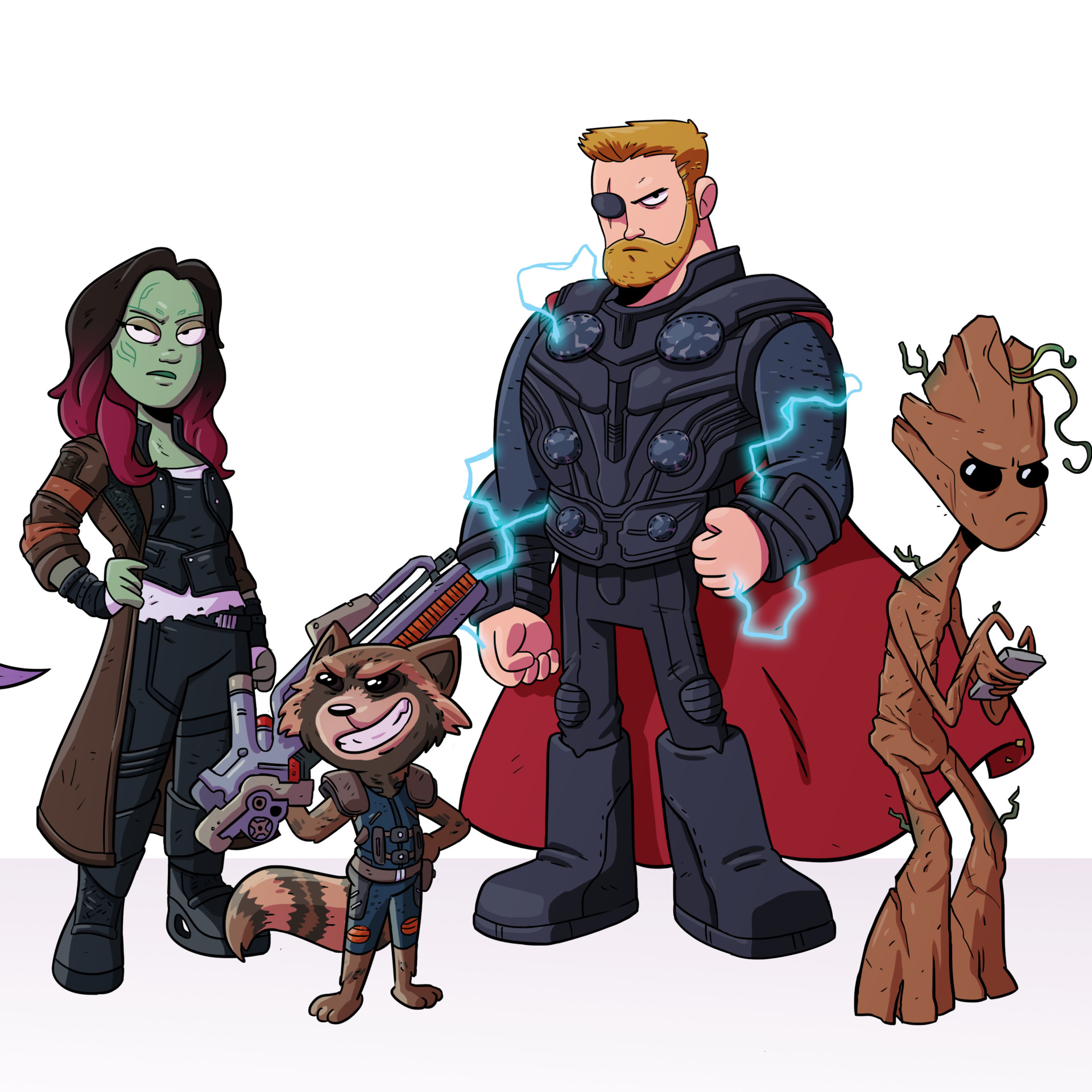 Daughter of Thanos and the Pirates of Nidavellir