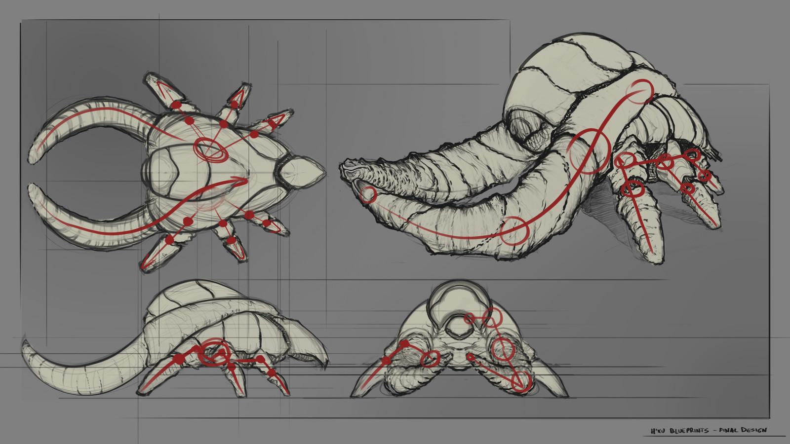 Grynd: H'xu (Creature Design)