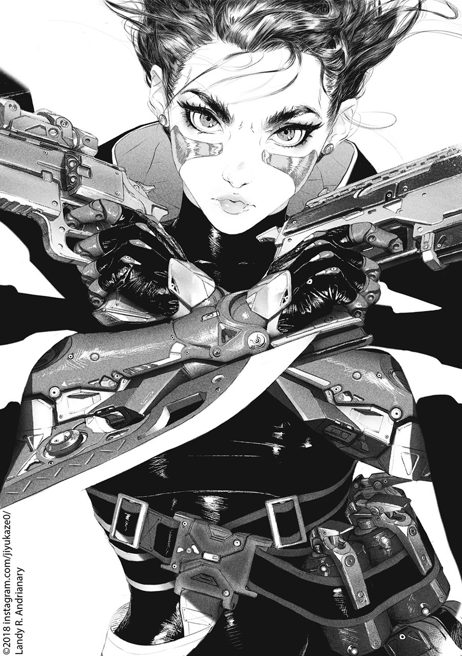 ArtStation - Gunnm (Battle Angel Alita), Landy R. Andrianary
