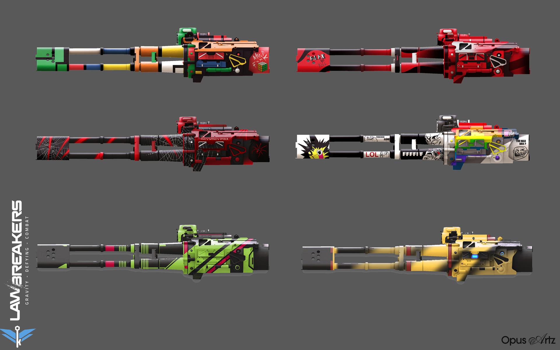 Opus artz lawbreakers minigun