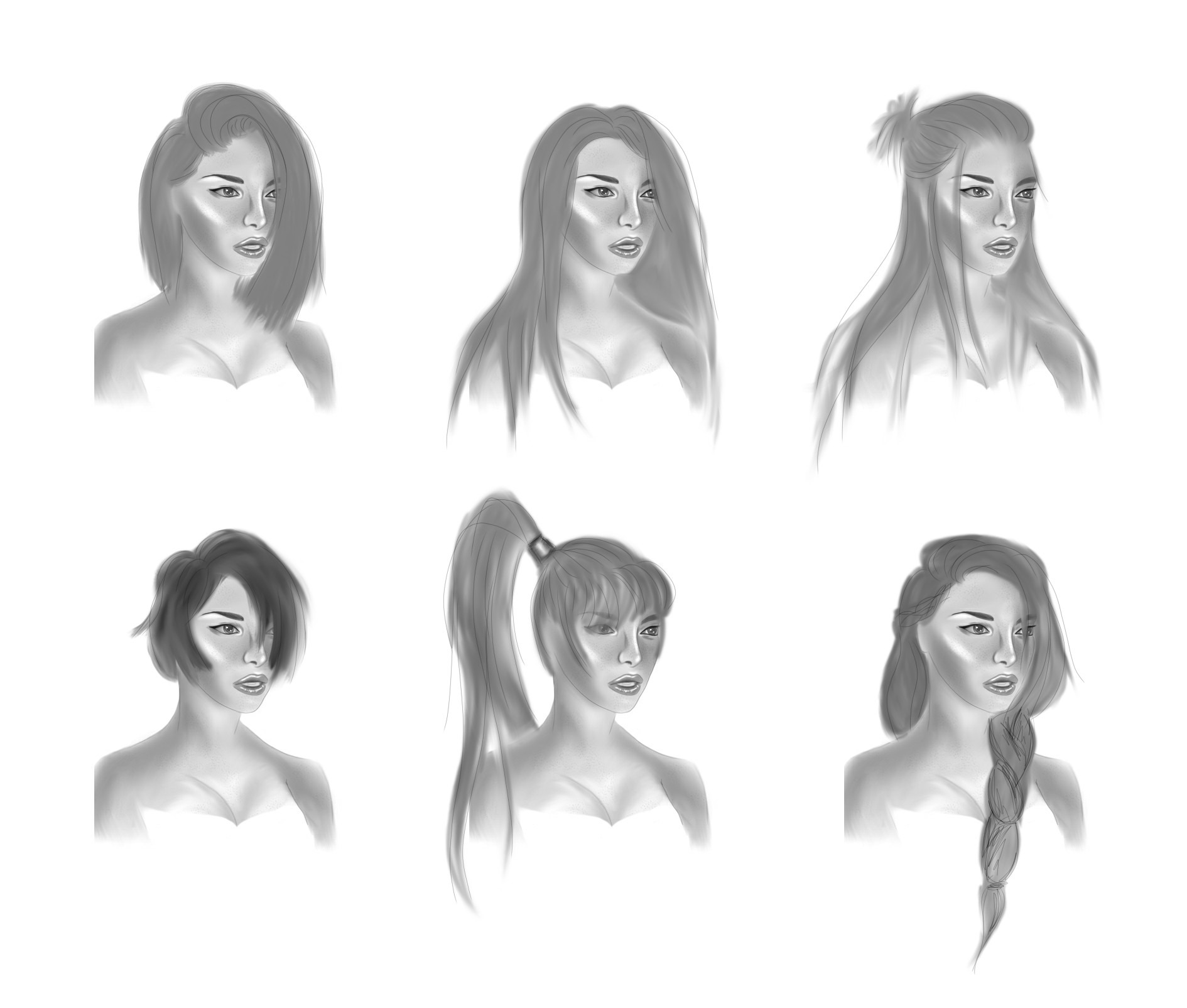 Hairstyle sketch dump