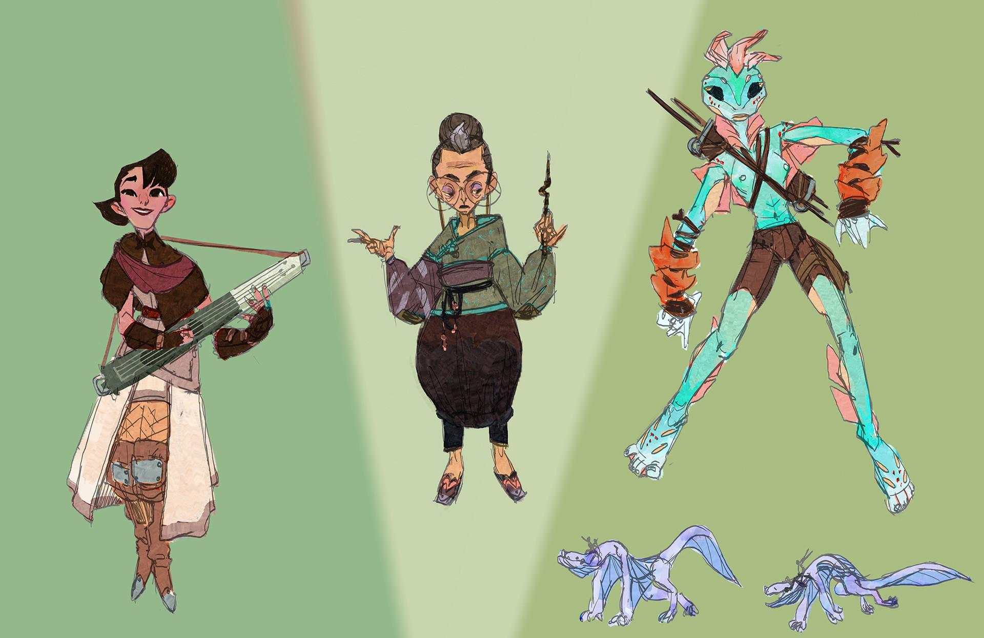 Fantasy: Bard, Librarian, Dragon Rider