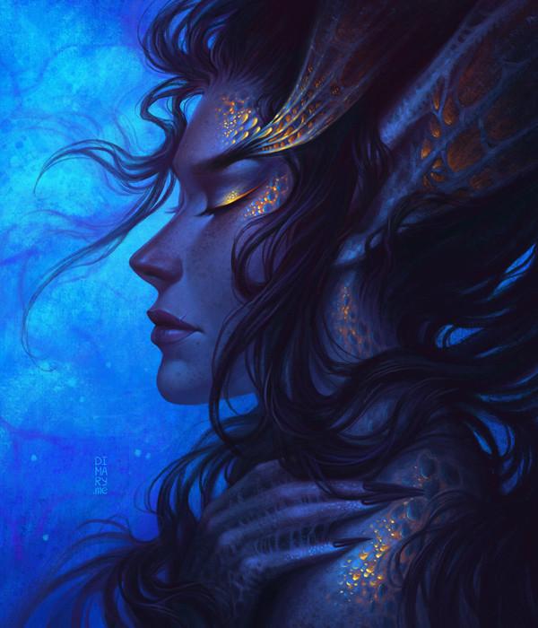 ArtStation - Deep Sea Mermaid, Maria Dimova