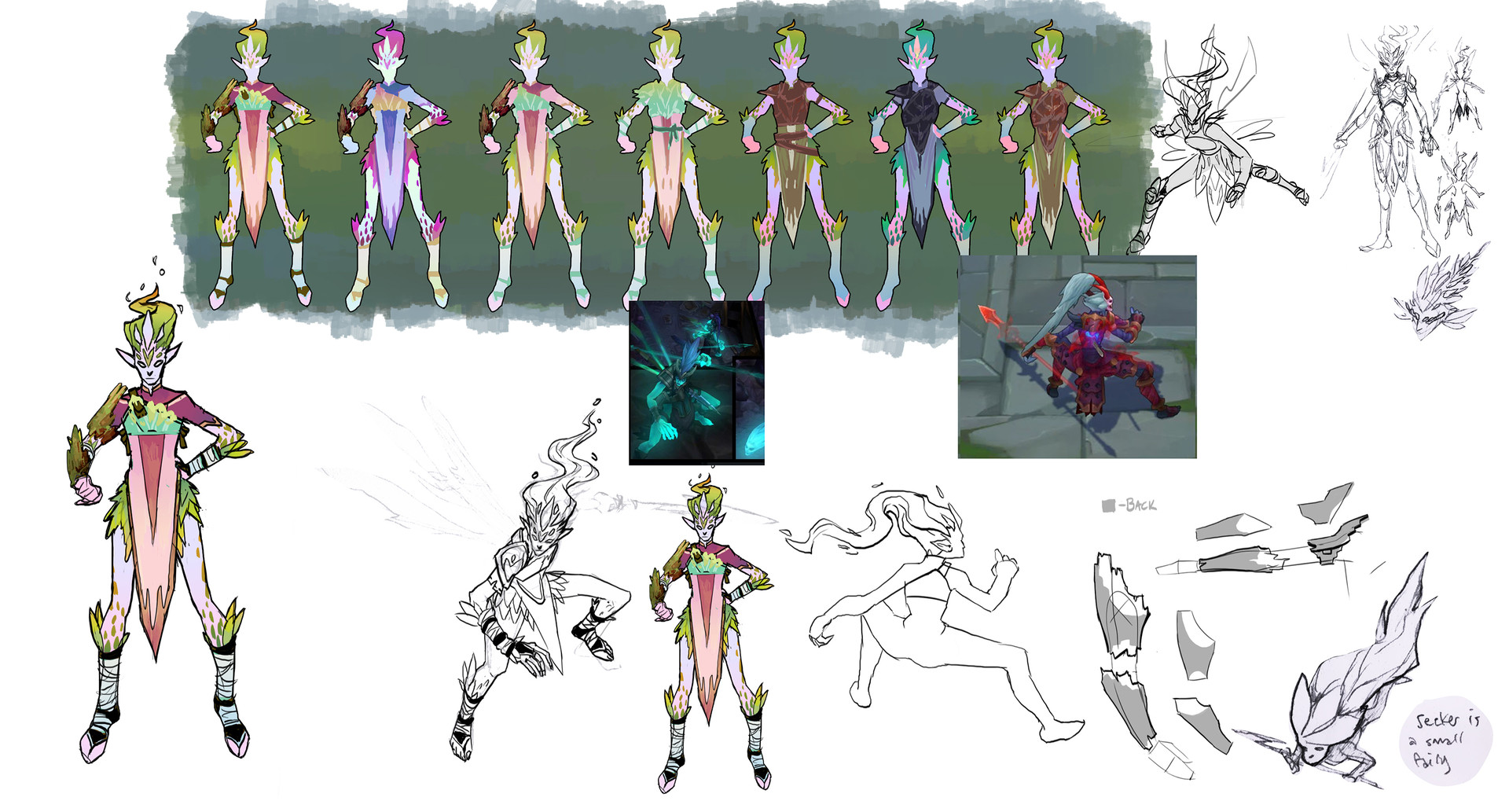 Kelsey martin kalista faerieguard sketches small
