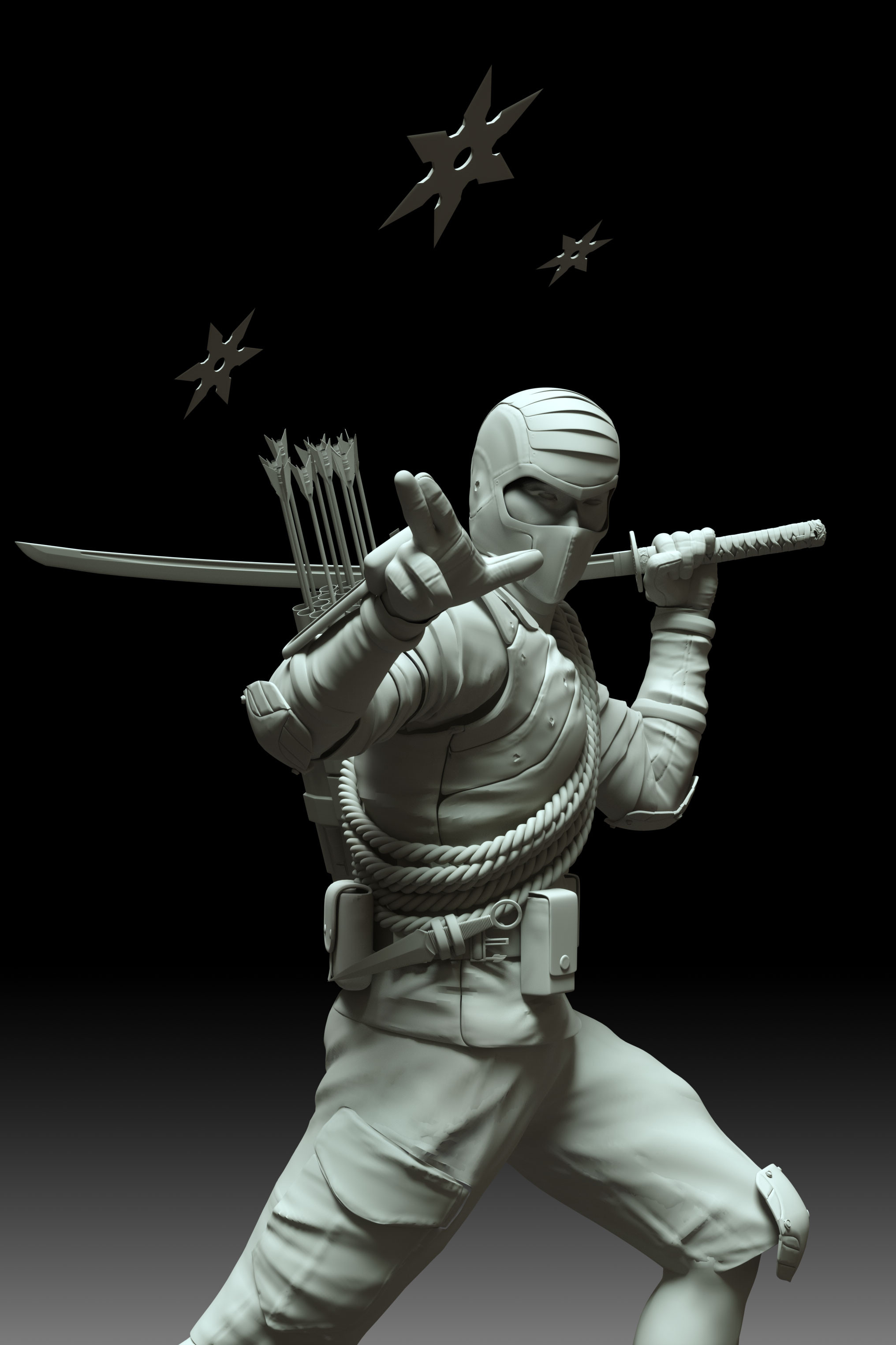 Clay Render Storm Shadow