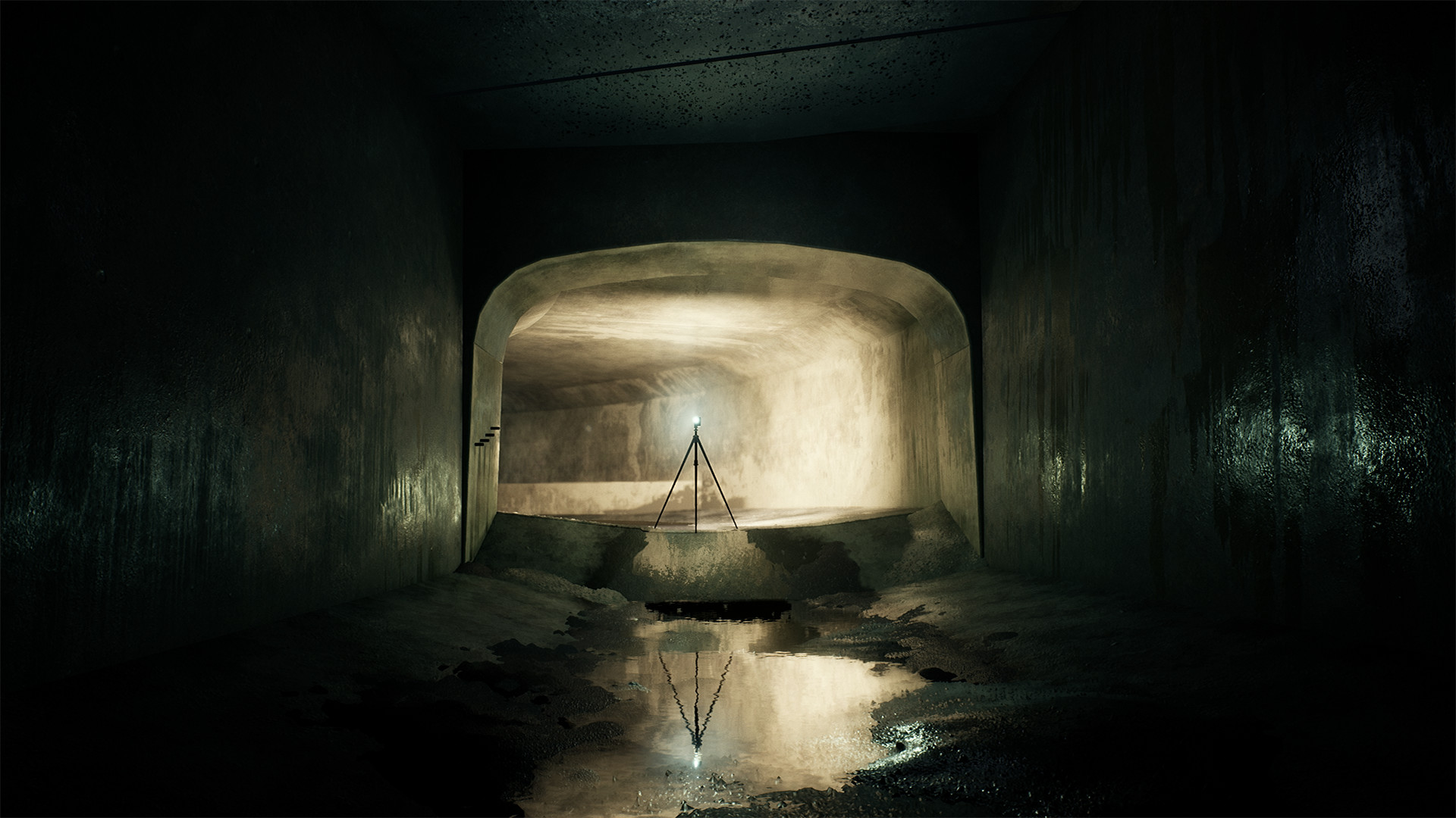 Lighting study in Unreal Engine, based on Naoya Hatakeyama's Underground / River (Tunnel Series)