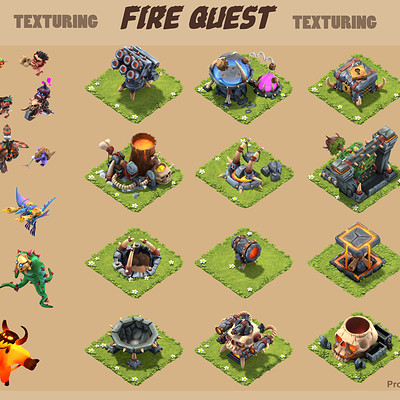 Texture Art for Fire Quest