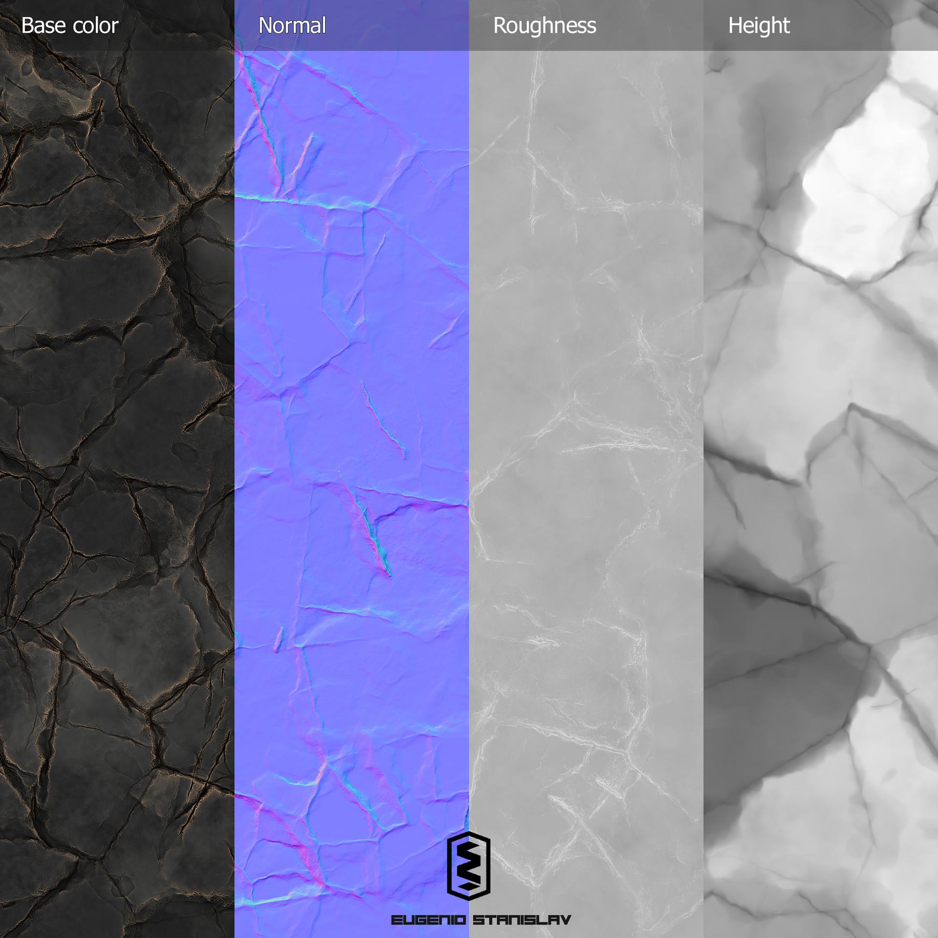 Eugenio stanislav stylized broken stone maps