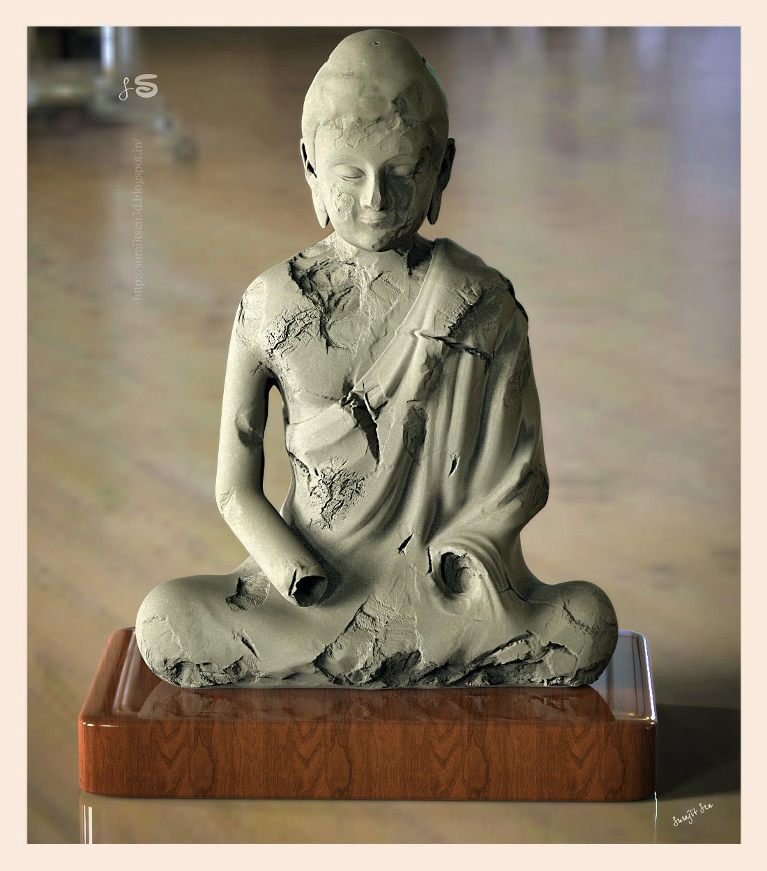 """My recent sculpt """"Amitava"""" wish to share. Inspired by Early 7th century Tang dynasty (China,618–907) Sculpture."""