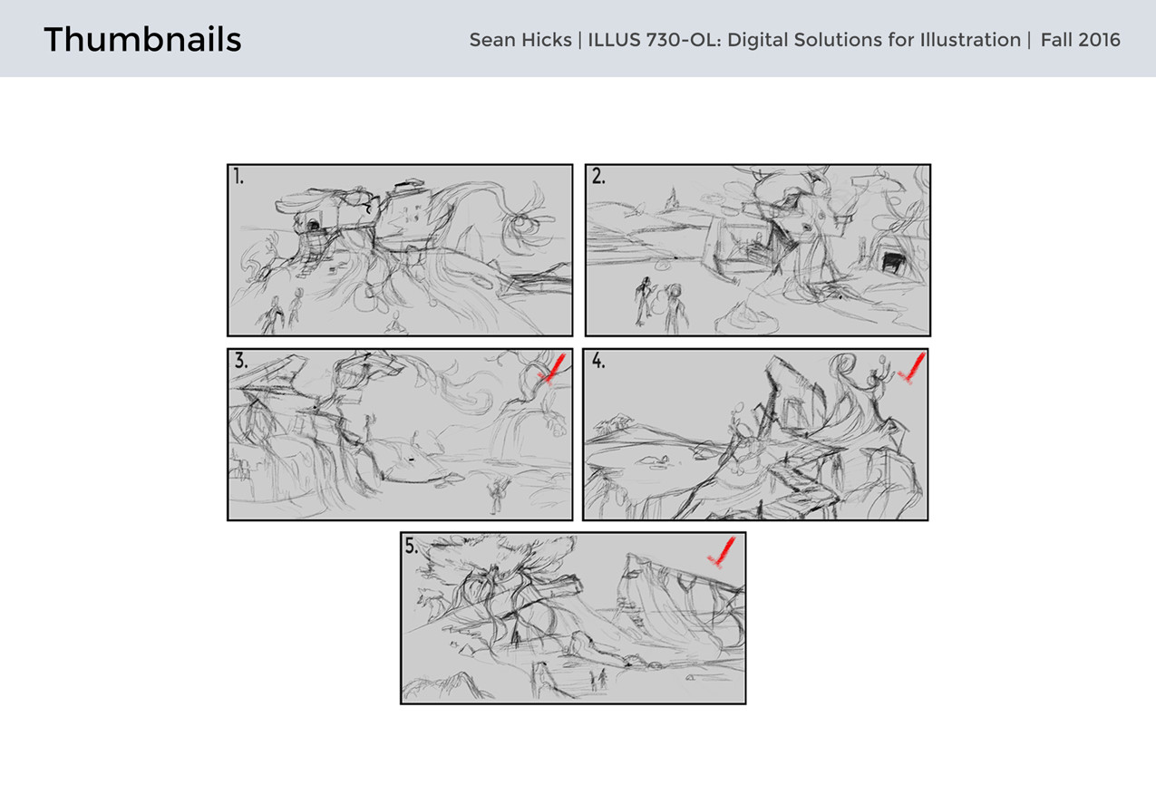 Thumbnails with various settings in mind.