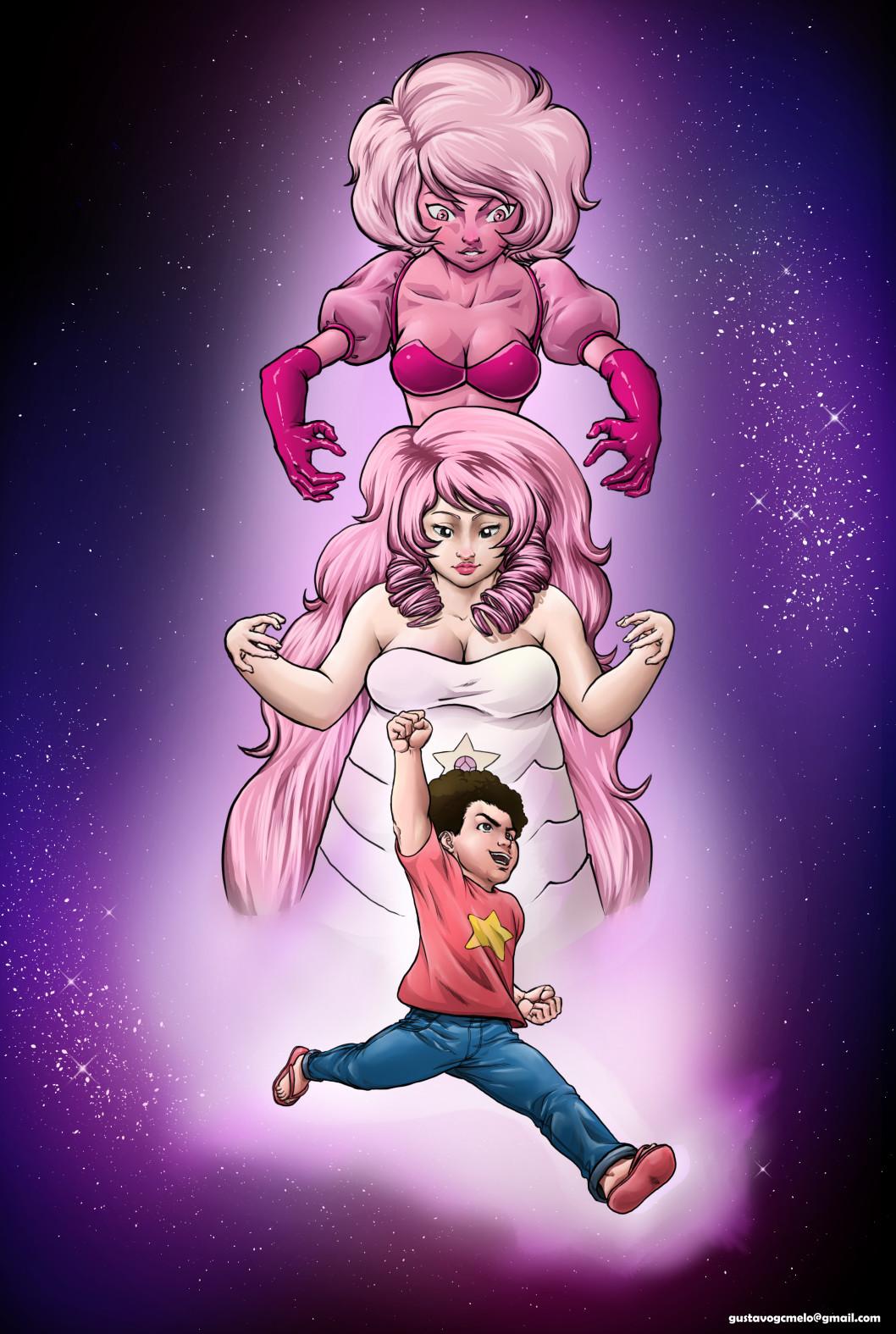 Gustavo melo steven universe fanart pink diamont color low