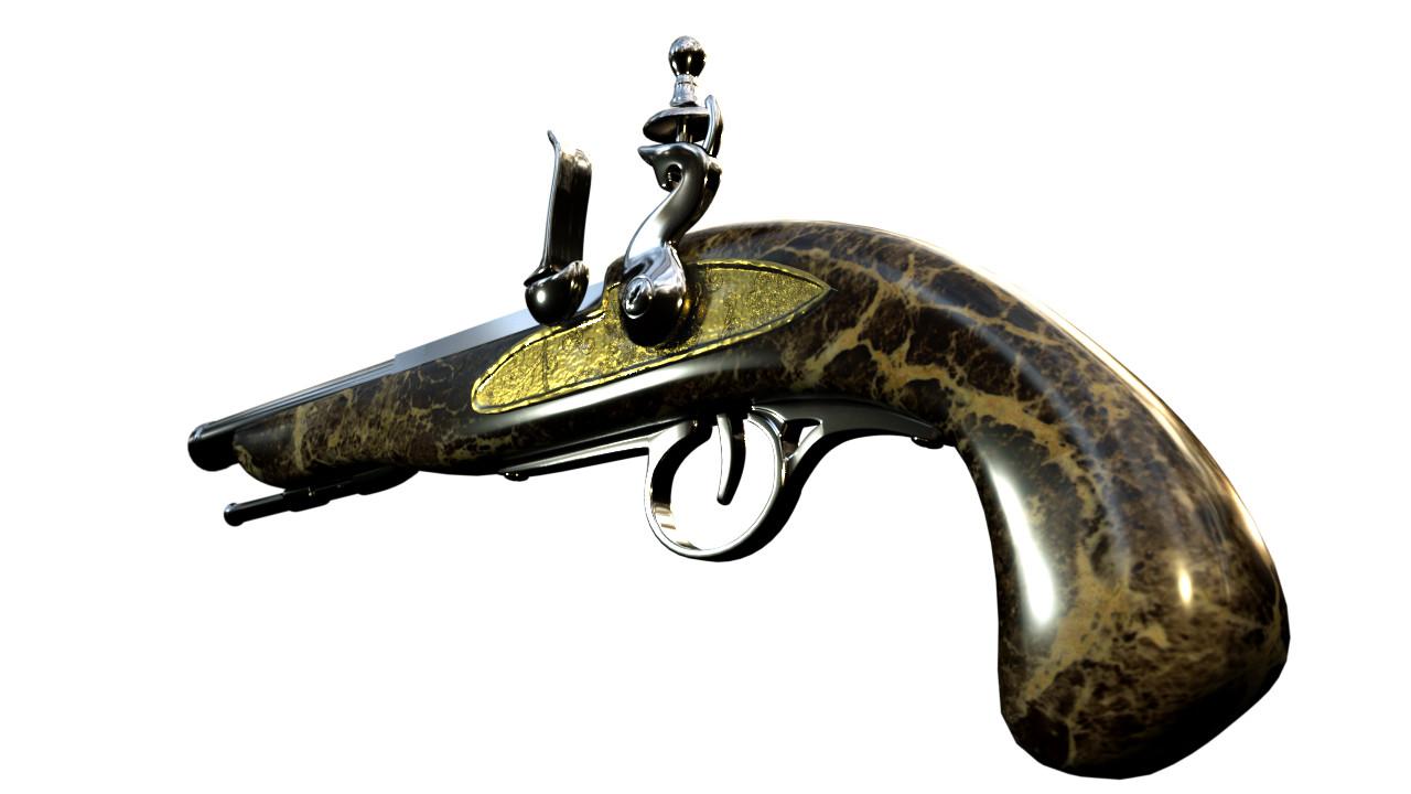 ArtStation - Musket Pistols, Steve Cook