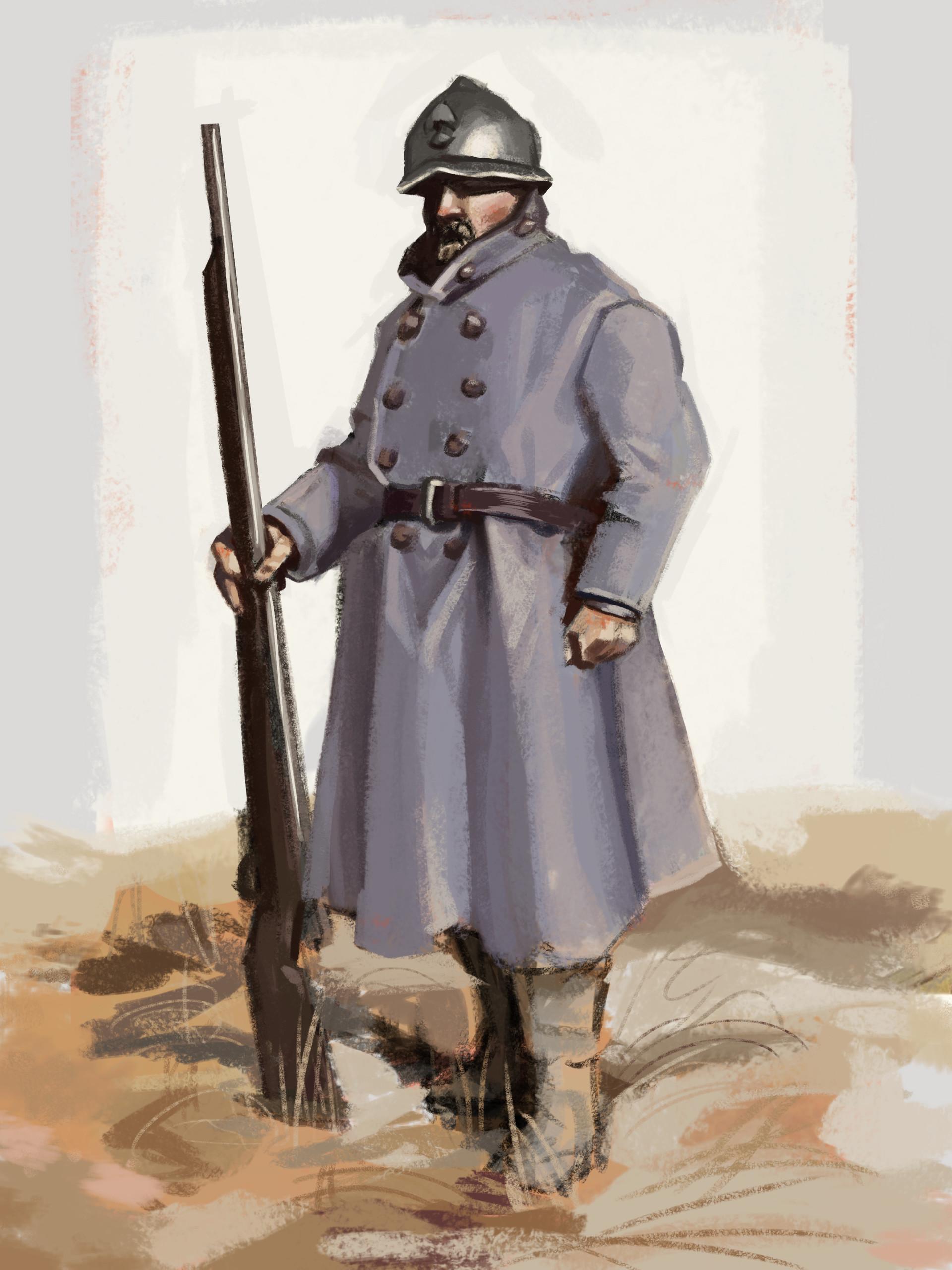 ArtStation - Study - French Soldier, Austin Legg