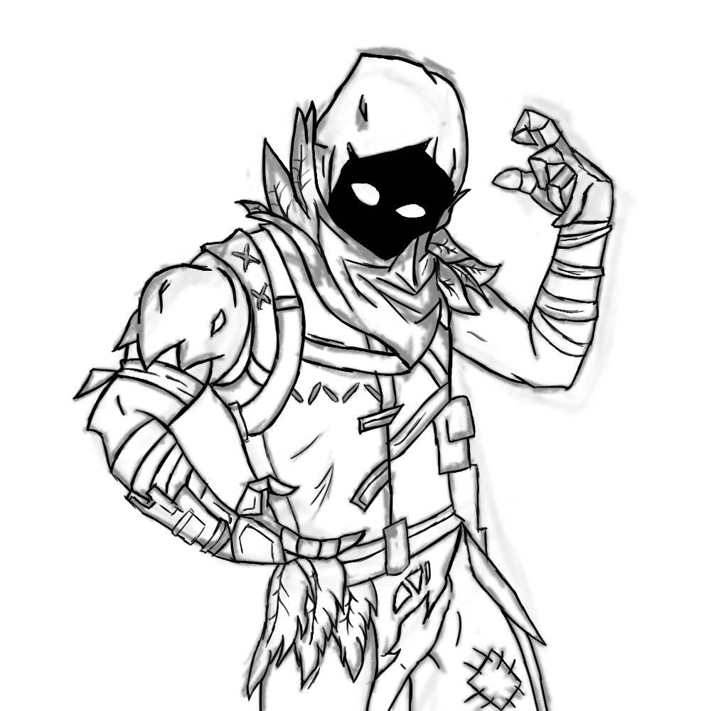 Fortnite Drawings: Fortnite Raven Skin