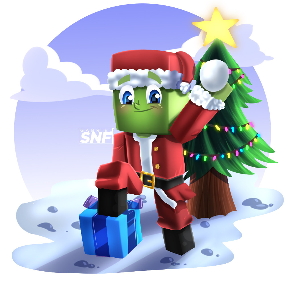Minecraft Christmas.Artstation Minecraft Christmas Gabriel Ferreira