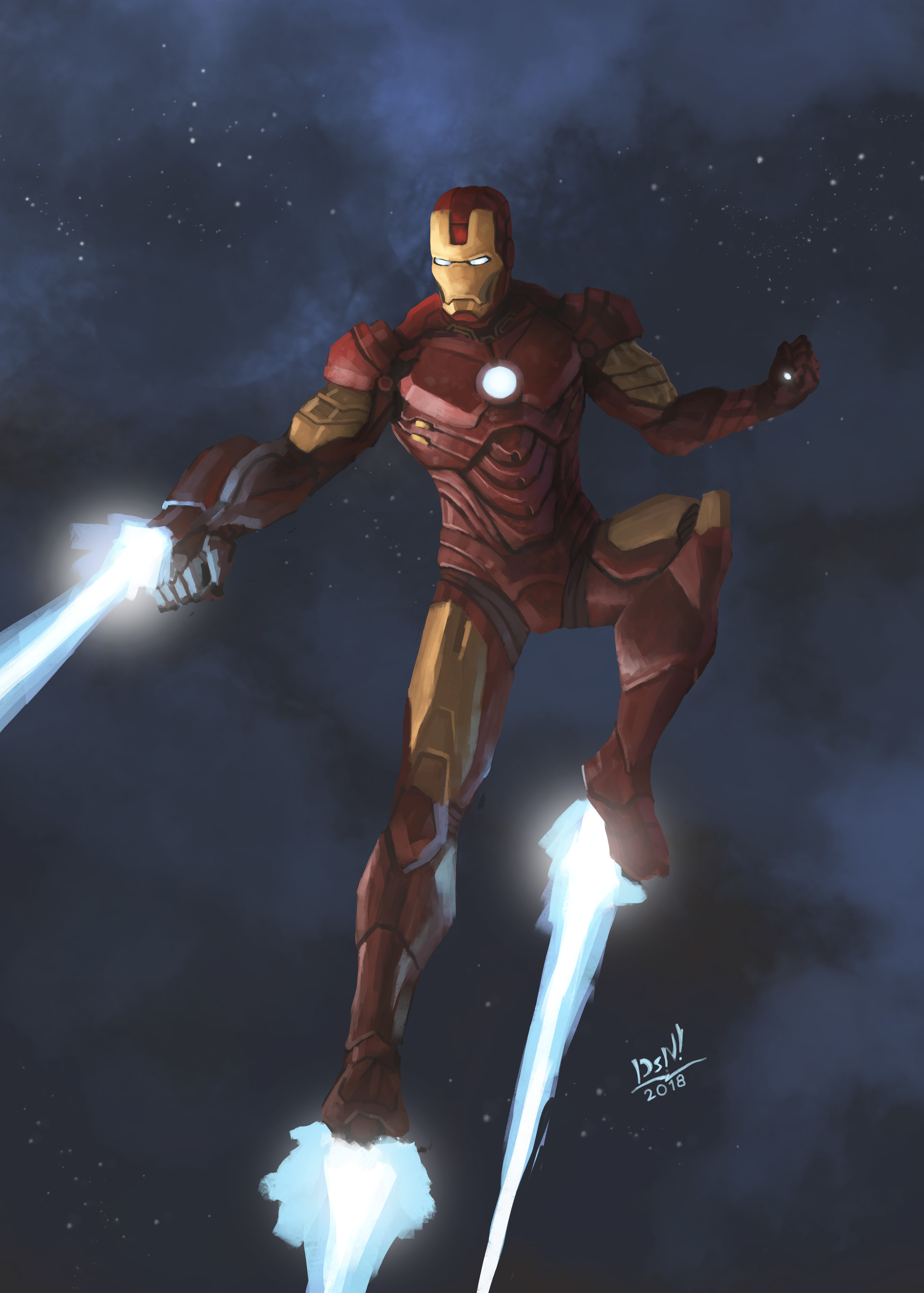 dastan tebegen - iron man (fan art)