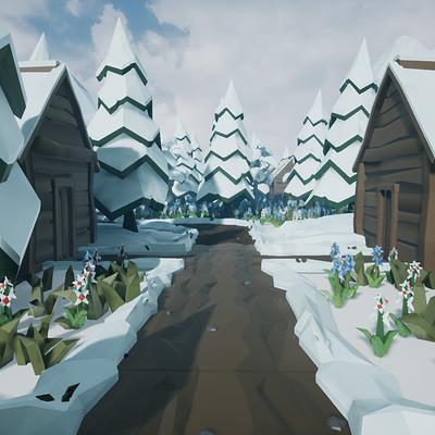 Damian sobczyk ue 4 snow poly 1