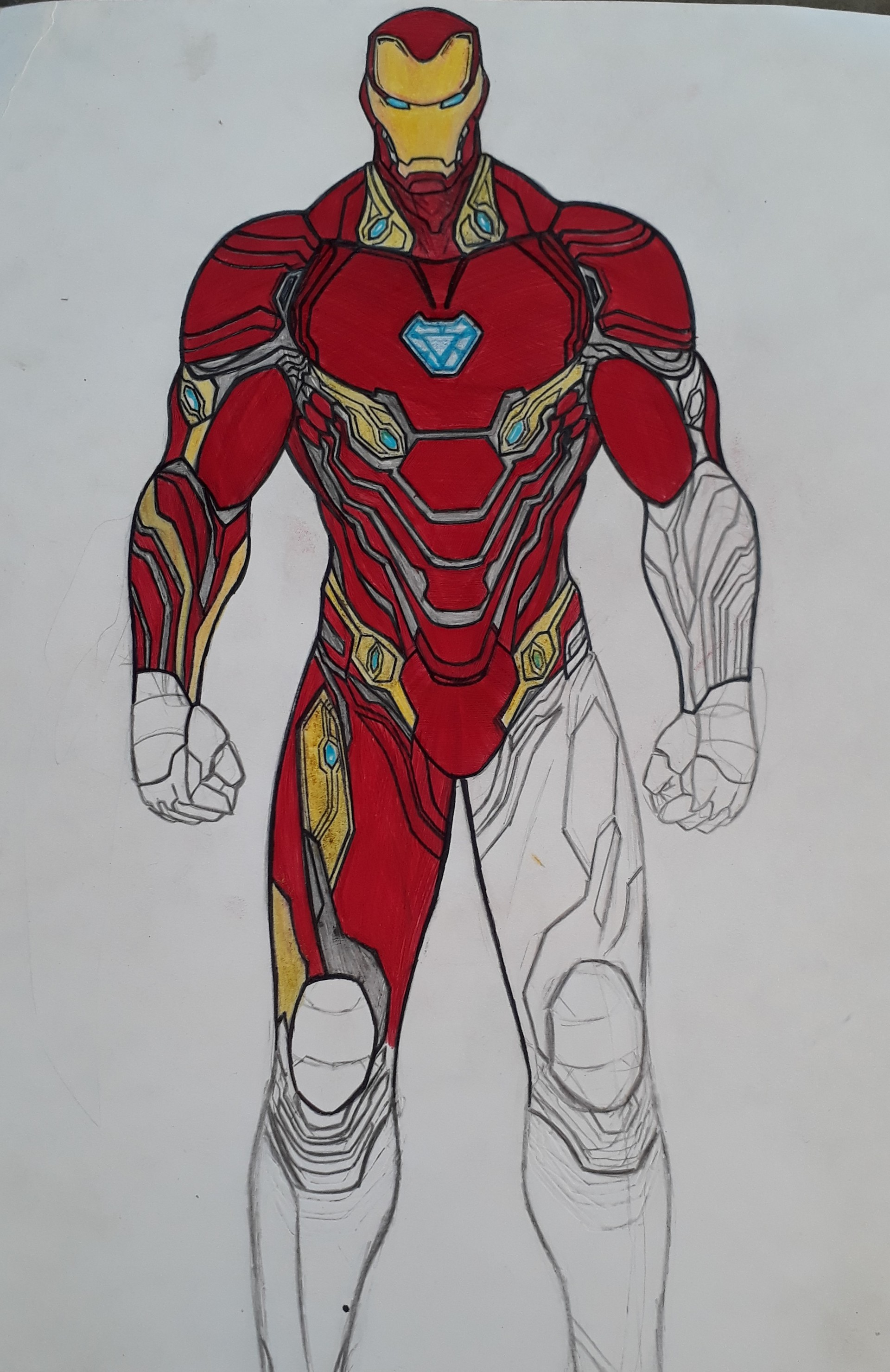 Michael Silva Iron Man Infinity War Mark 50
