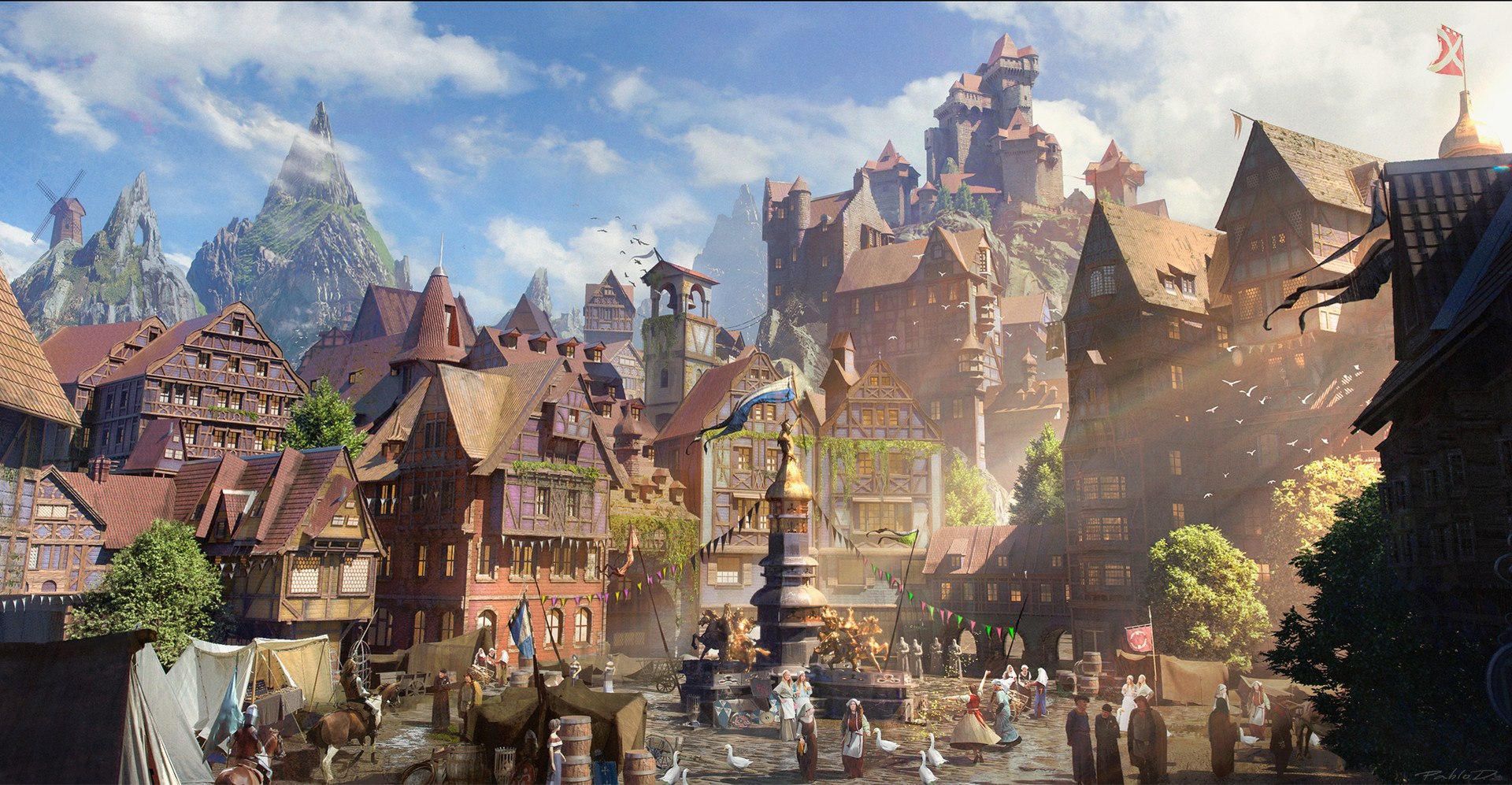 ArtStation - Kitbash 3D Fairy Tale , Pablo Dominguez