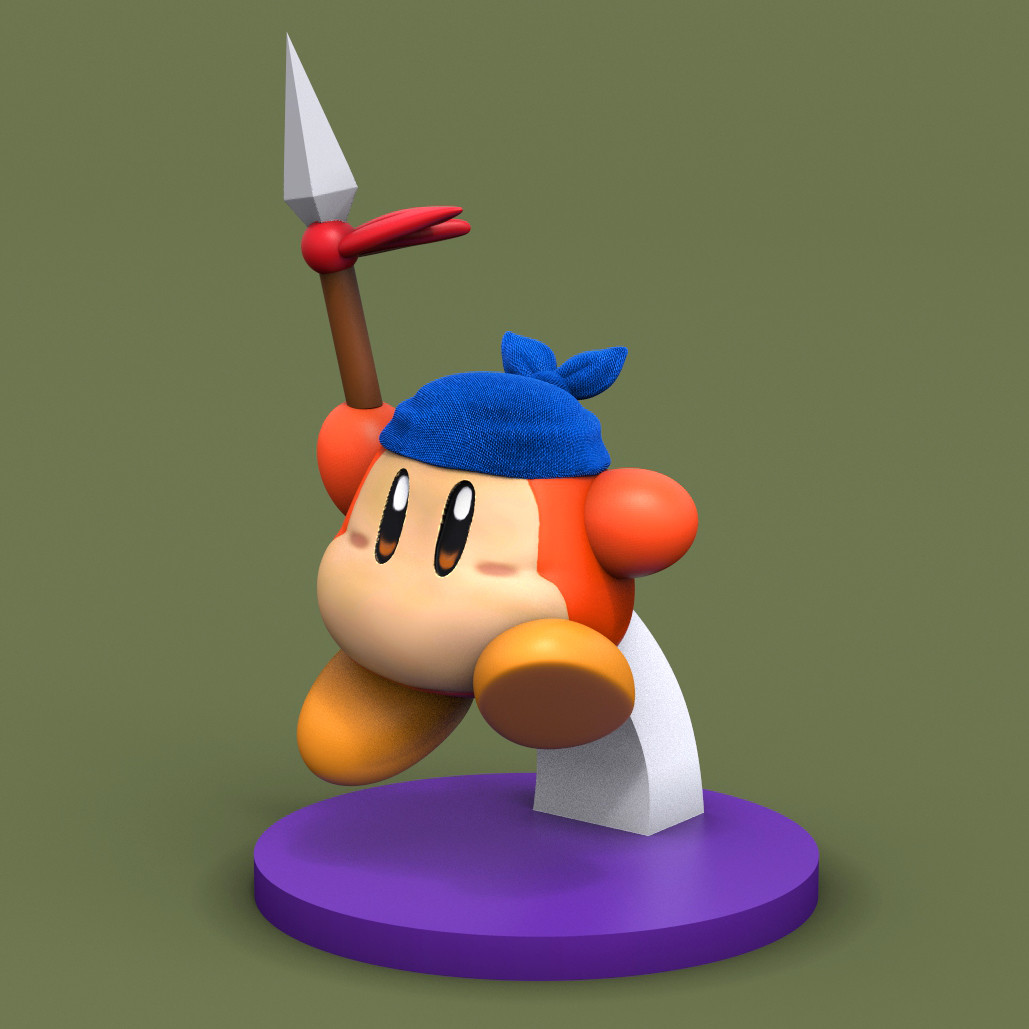 Render of the sculpt from Keyshot