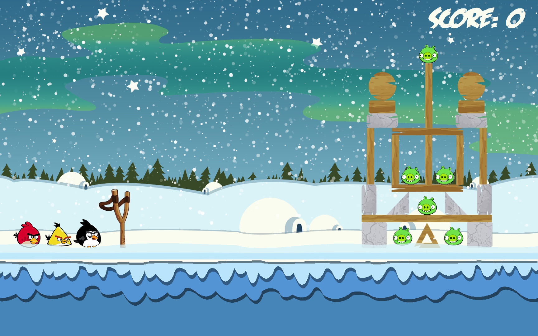 Jordan cameron angrybirds winterscene level3