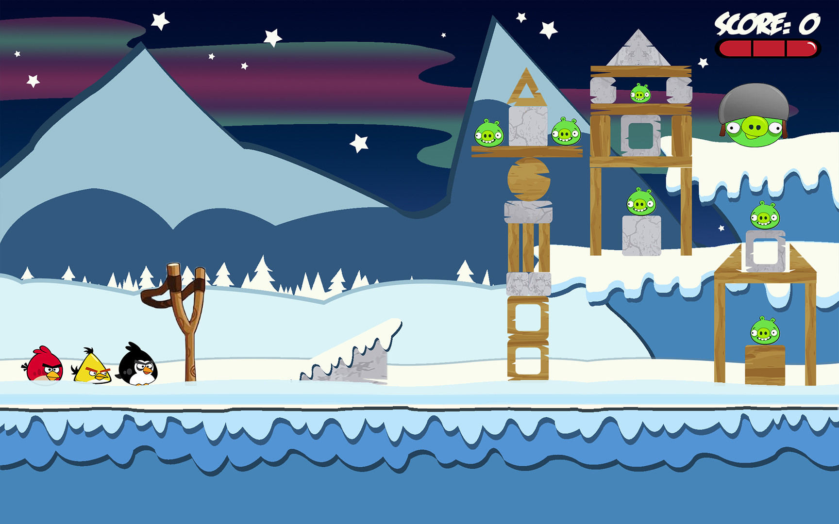 Jordan cameron angrybirds winterscene level4