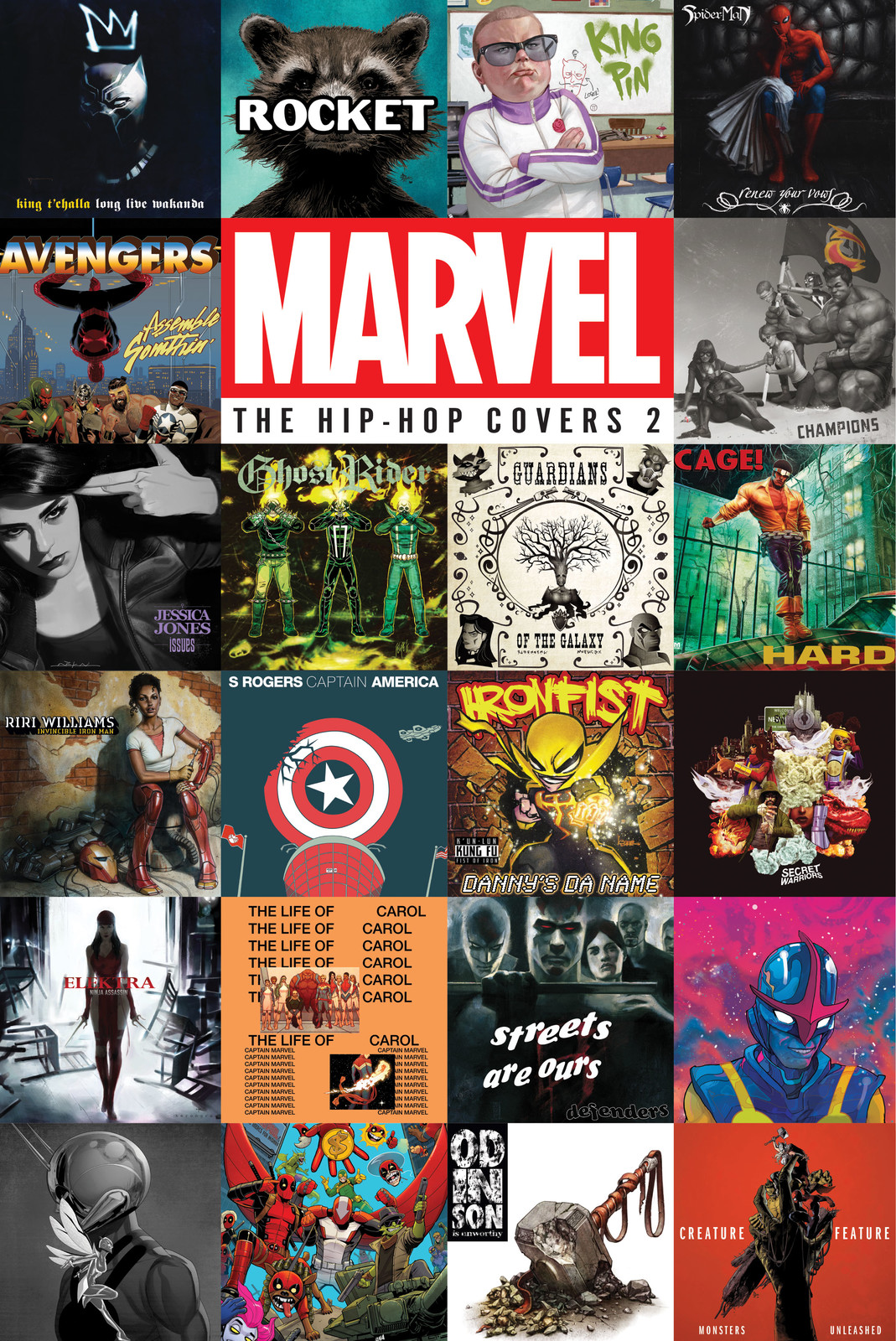Co-Design and Layout for Marvel The Hip-Hop Covers 2