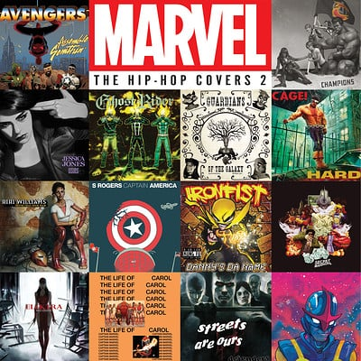 Design and Layout for Marvel The Hip-Hop Covers 2