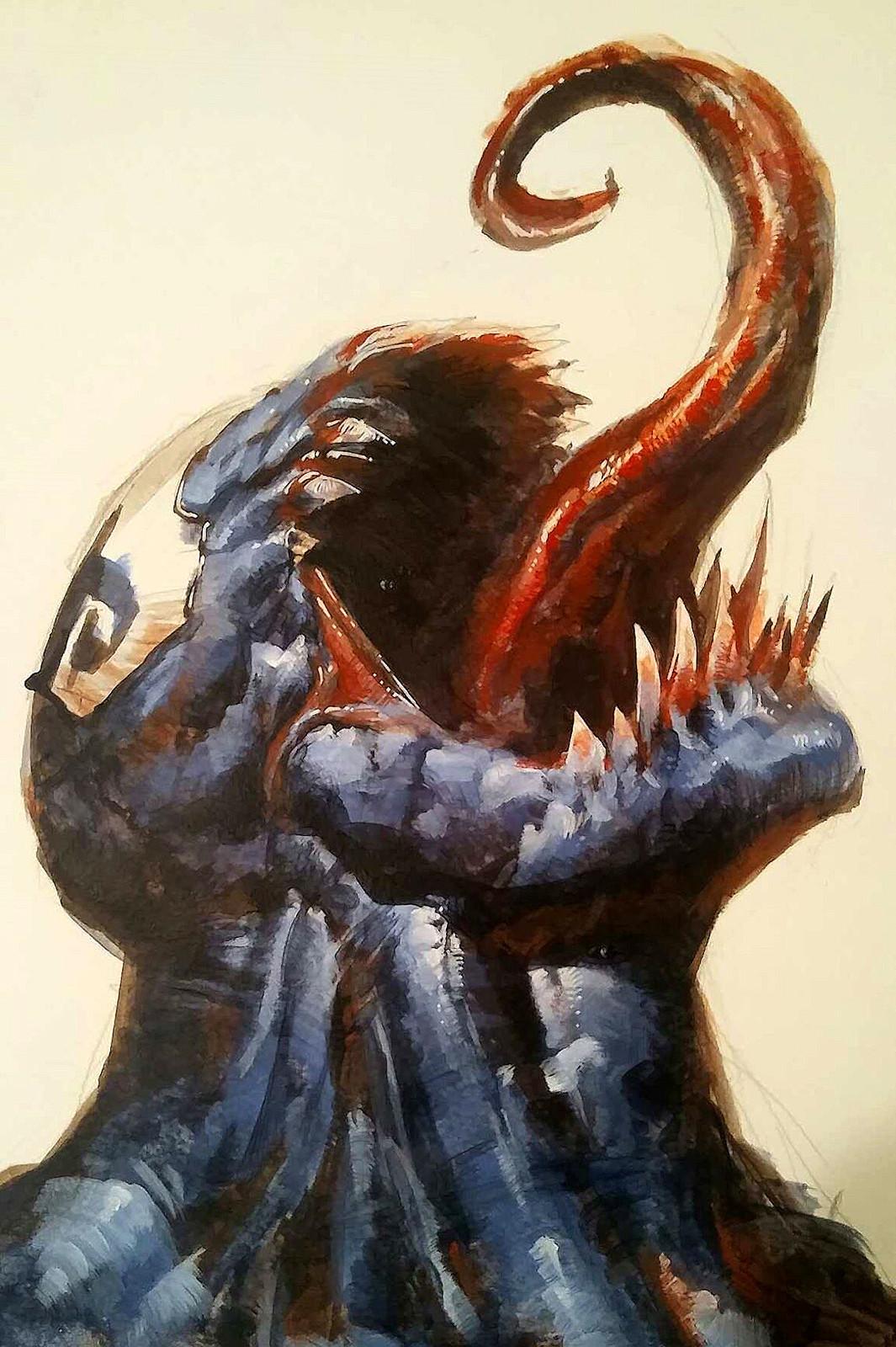 Venom- Acrylic painting