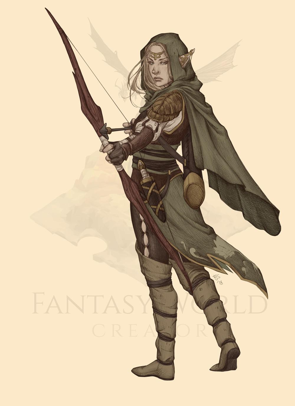 Elisa serio elfo ranger