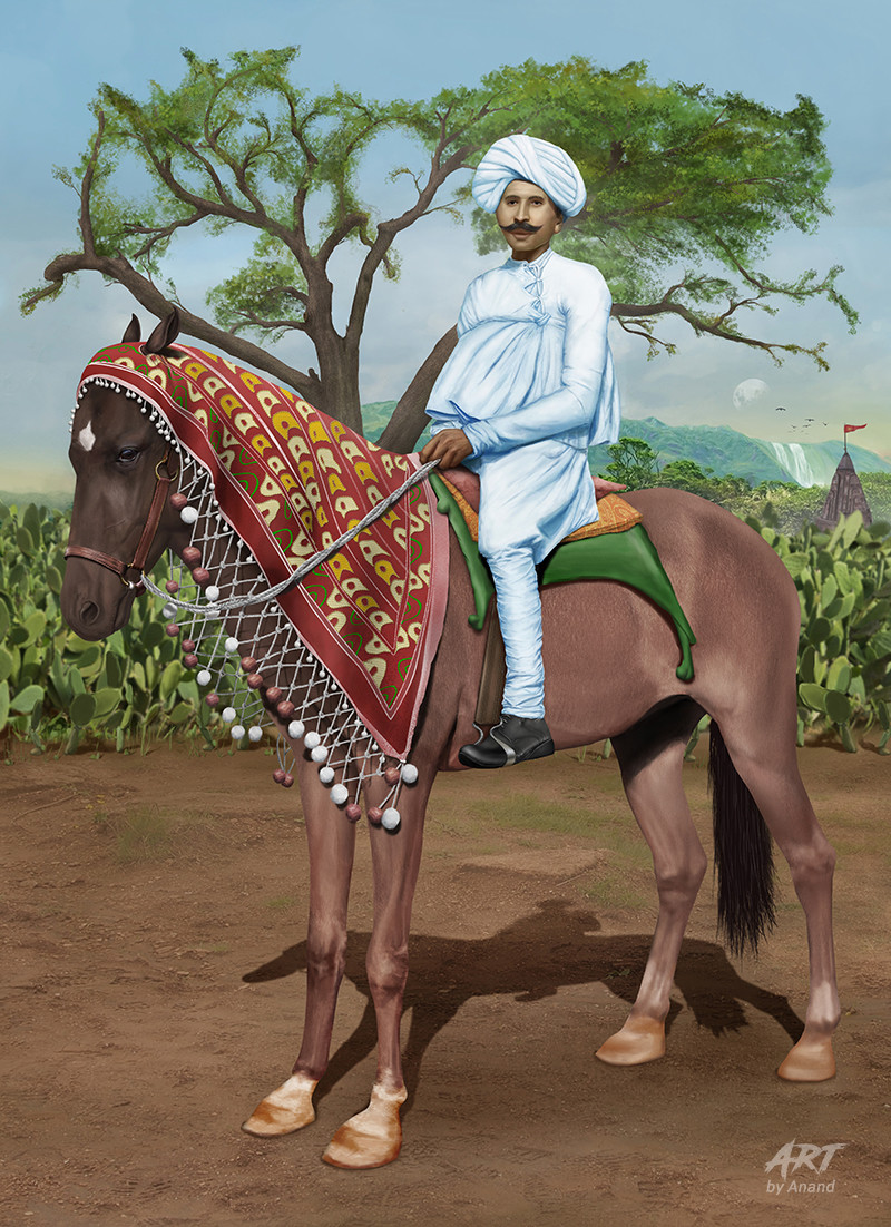 Artstation Digital Painting Of Man Sitting On Horse With Realistic Background Anand Bhavsar