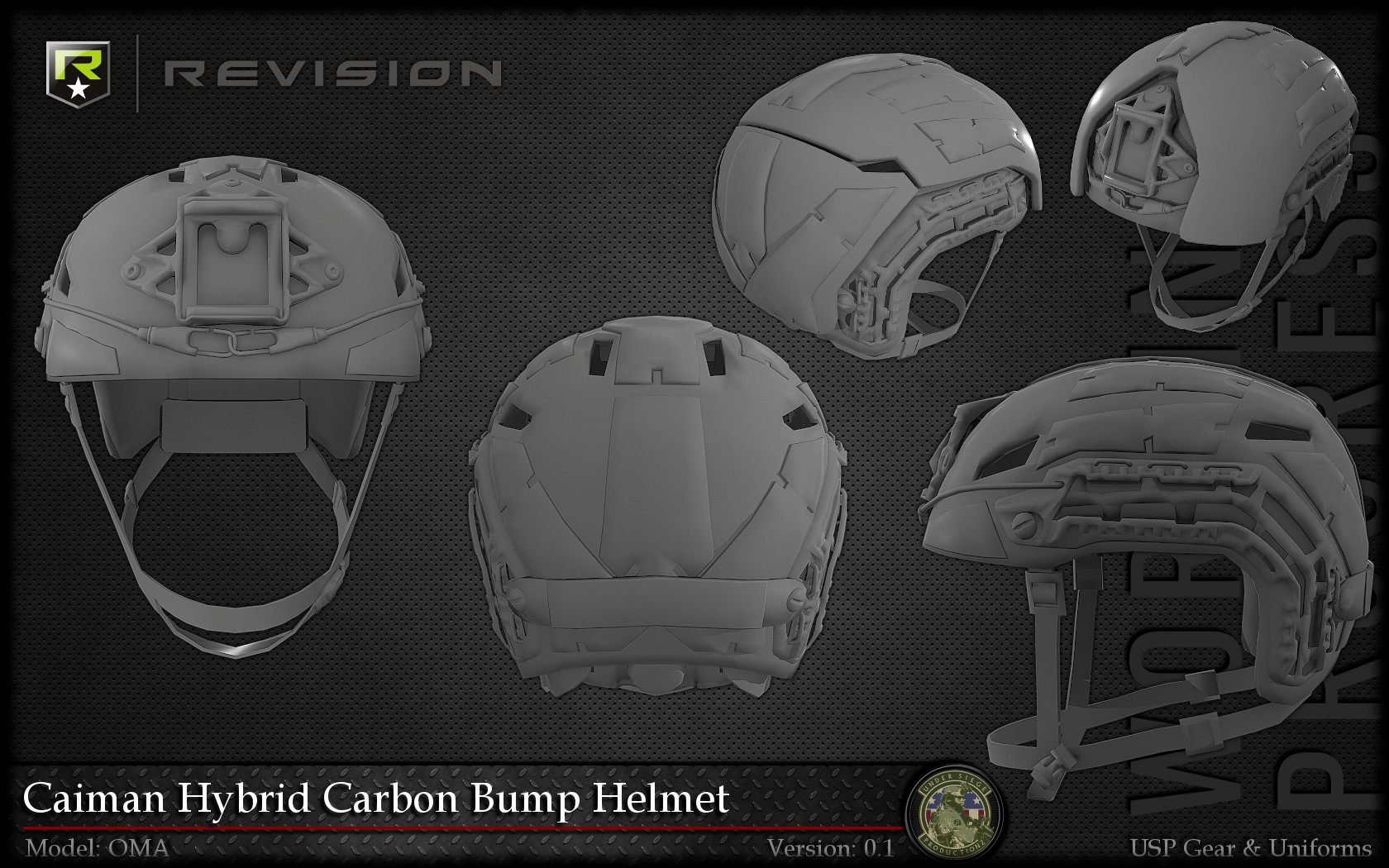 artstation revision caiman hybrid carbon bump helmet siege a