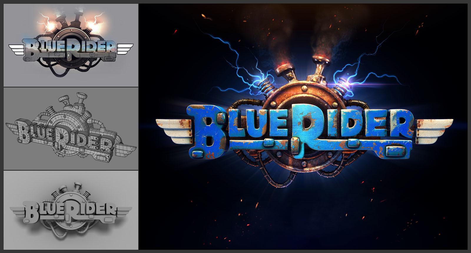 Ravegan games ravegan logo sample blue rider