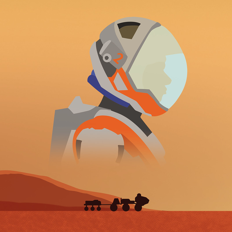 The Martian - Book Cover Design