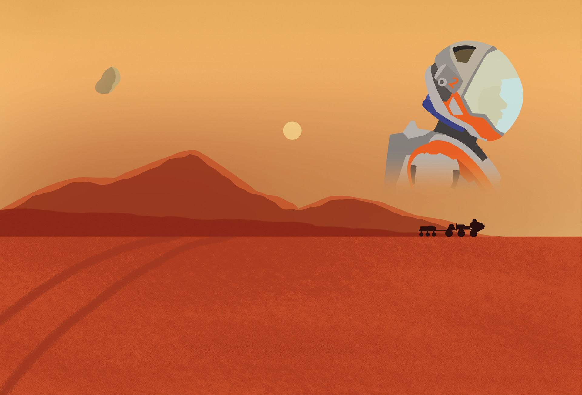 Mathew maddison the martian book cover illustration 01