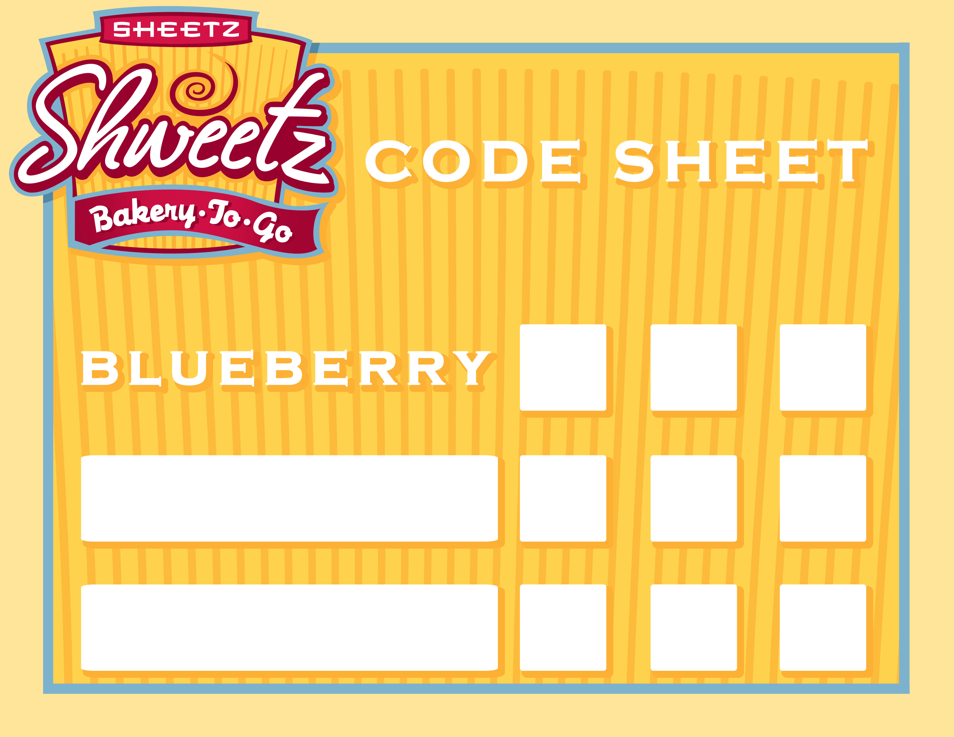 Sheetz uses code sheets for their bakery so employees know how long until a product is no longer fresh. They're normal paper, but why not make them fancy?