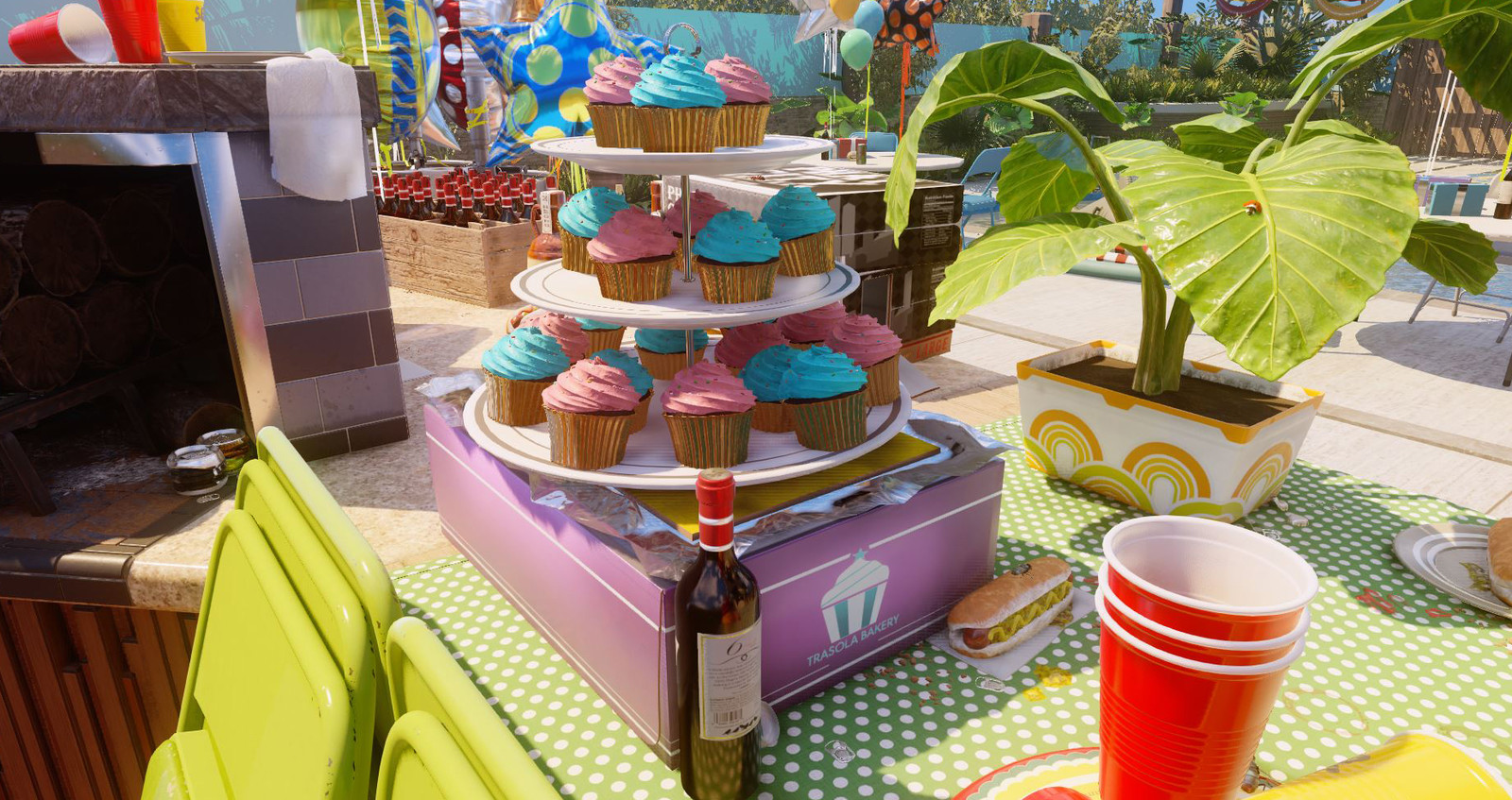 Cupcake box and tower.