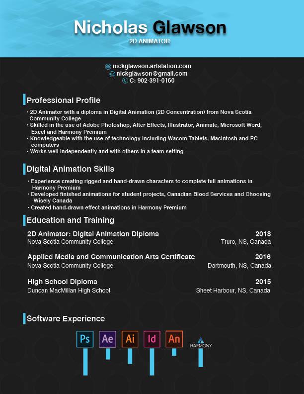 ArtStation - Resume, Nick Glawson