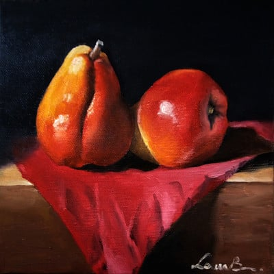 Laura green b red pears